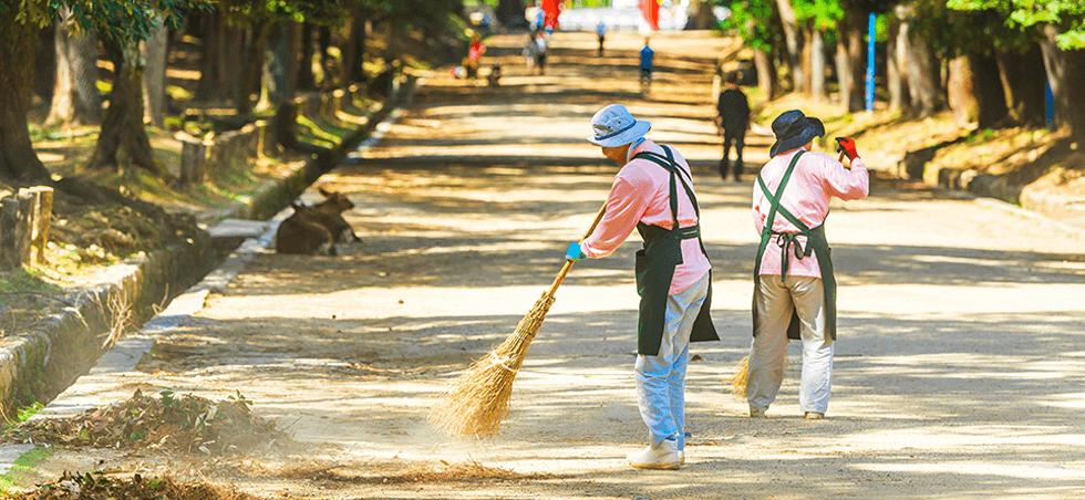 地域清掃の活動